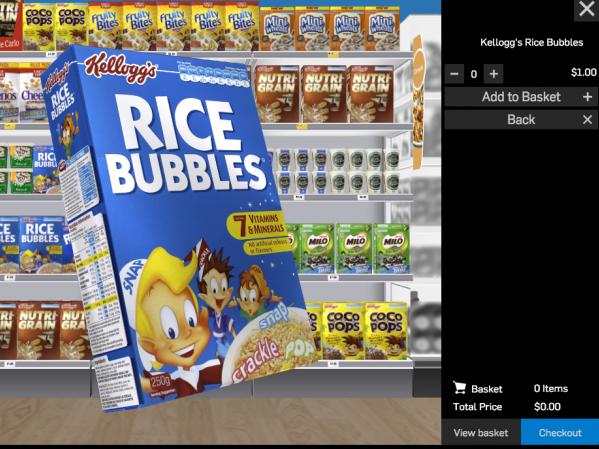 Virtual Shopping (3D Virtual Shelf)